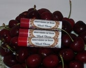CLOSING SALE Black Cherry Lip Balm with Shea and Cocoa Butters .15 Oz. No Artificial Dyes or Preservatives
