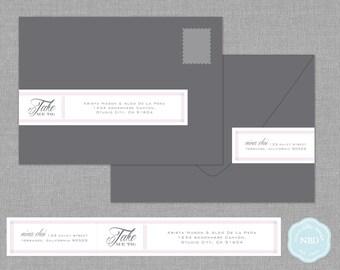 Take Me To Wraparound Mailing Address Labels [Printable | DIY | Digital File]