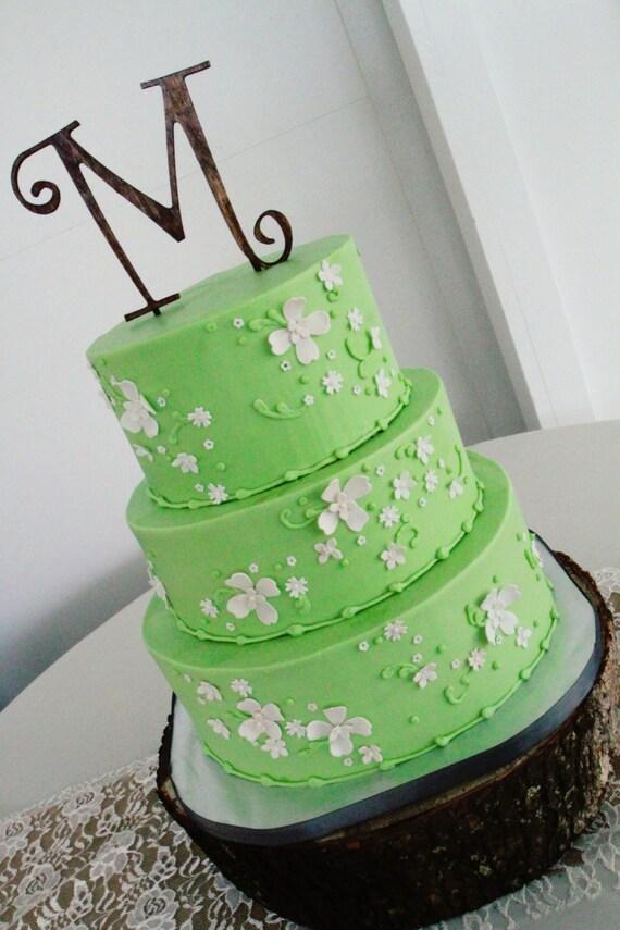 Wedding Cake Topper Monogram Letter - FREE SHIPPING
