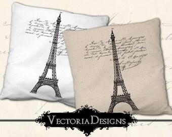Paris digital transfer image iron on printable digital collage sheet 342