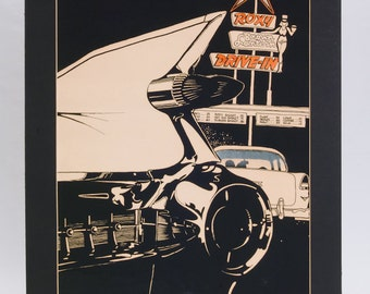 Walter (Rocky) Ferris 59 Cadillac Signed Numbered Art Print Autoscape Photorealism