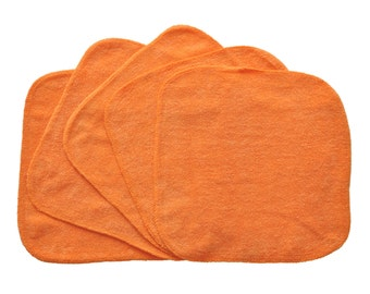 Baby Washcloths Orange 10 Pack