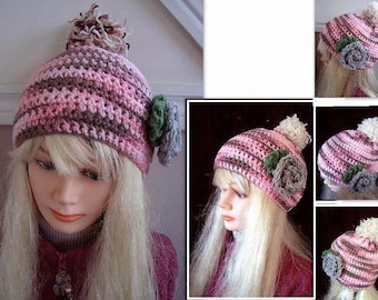 Instant Download HAT PATTERN, Crochet Hat Pattern, newborn to adult, SPP-111