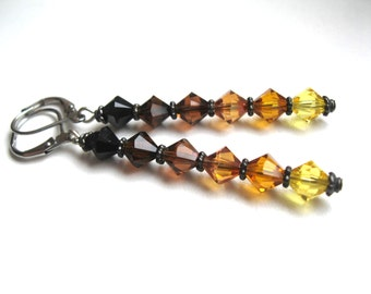 Ombre Beer Flight Earrings for the Glam Craft Beer Fan Beer Brewing Homebrewing