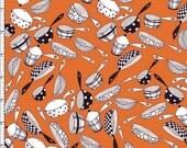 Pots & Pans Flyin' Orange Fabric Yard by Loralie