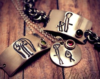 """Shop """"kids drawing jewelry"""" in Bracelets"""