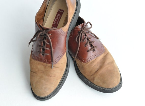 Mens Two Tone Oxford Shoes Images Leather Black