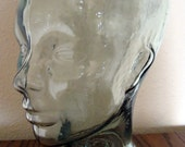 Thick Clear Glass Mannequin Head for Display / Art / Decor / Handmade in Spain