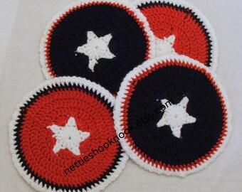 Patriotic Star Coasters