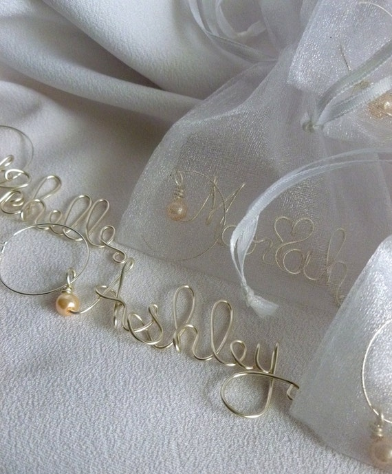 Will You Be My Bridesmaid Gifts, Personalized Wine Glass Charms, 6 pcs
