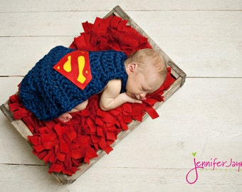 Ready To Ship Superhero inspired cape Newborn Photography Prop U Choose Color Red or Blue