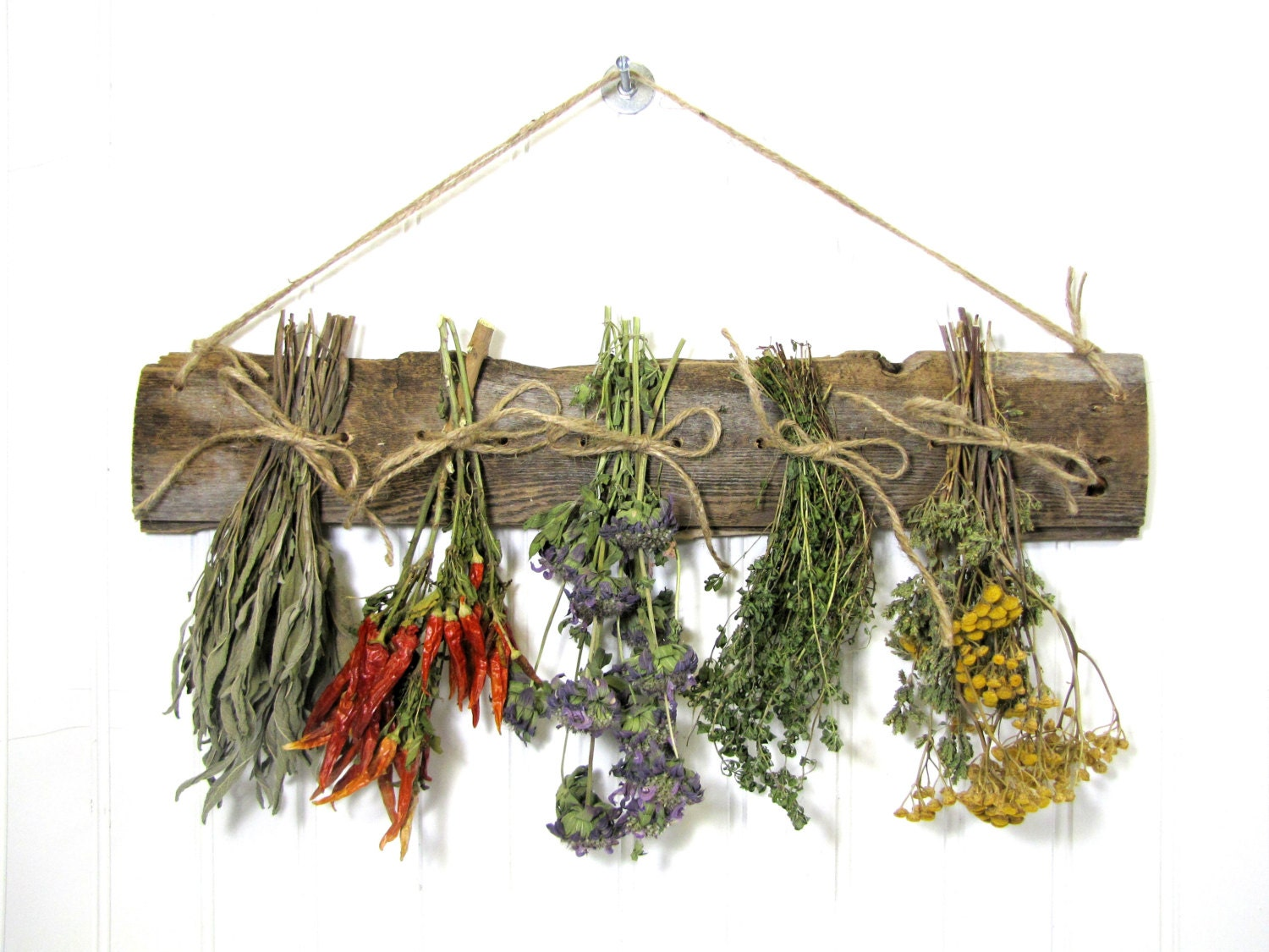 Https Etsy Com Listing 128144146 Dried Herb Rack Dried Floral Arrangement