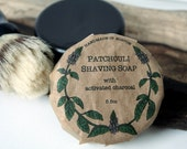 Patchouli Shaving Soap with Activated Charcoal - 5.5oz
