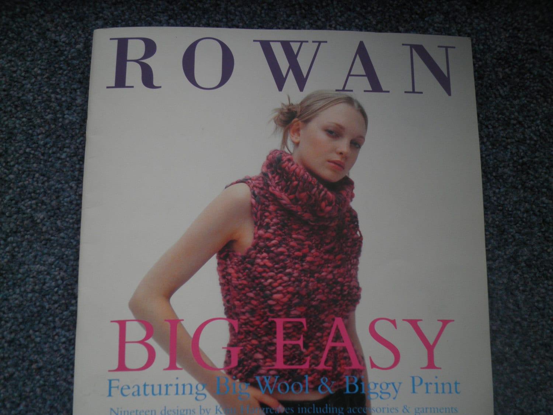 Rowan Knitting Books : Rowan big easy knitting pattern book designs in wool