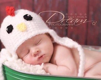 Baby Rooster Hat, Newborn Photography Prop, Newborn Rooster Hat, Newborn Chick Hat, Baby Chick Hat, Crochet Rooster Hat, Baby Shower Gift