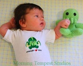 Cthulhu loves you embroidered baby onsie