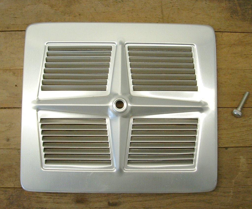 Vintage Retro Aluminum Exhaust Fan Grill Vent Cover Repurpose