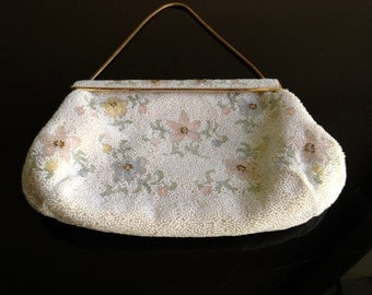 Vintage Handmade Beaded Purse - France