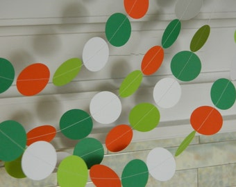St Patrick's Day decorations - 10ft paper Garland -  St Patrick's Party Decor - St Patrick's garland