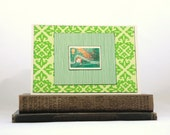 Peter Pan Handmade Greeting Card with Vintage Postage Stamp