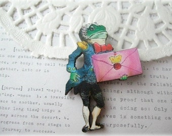 The Frog Footman Alice In Wonderland Brooch