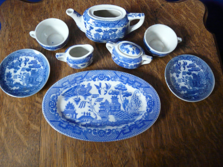 Vintage Blue Willow Child S Tea Set By Smittysvintage On Etsy