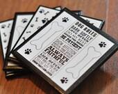 The Dog Rules Ceramic Coasters