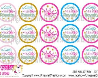 "15 Little Miss Royalty Digital Download for 1"" Bottle Caps (4x6)"