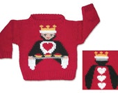Queen of Hearts Sweater to Knit PDF Pattern Instant Download