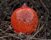 Christmas Glass Ornaments Red handmade decorations by Kort
