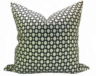 Betwixt pillow cover in Charcoal/Ecru