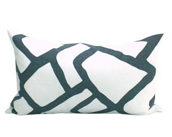 Zimba lumbar pillow cover in Charcoal