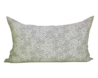 Confetti lumbar pillow cover in Cream