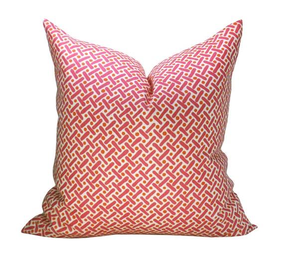 Kells II pillow cover in Orange Dots/Magenta
