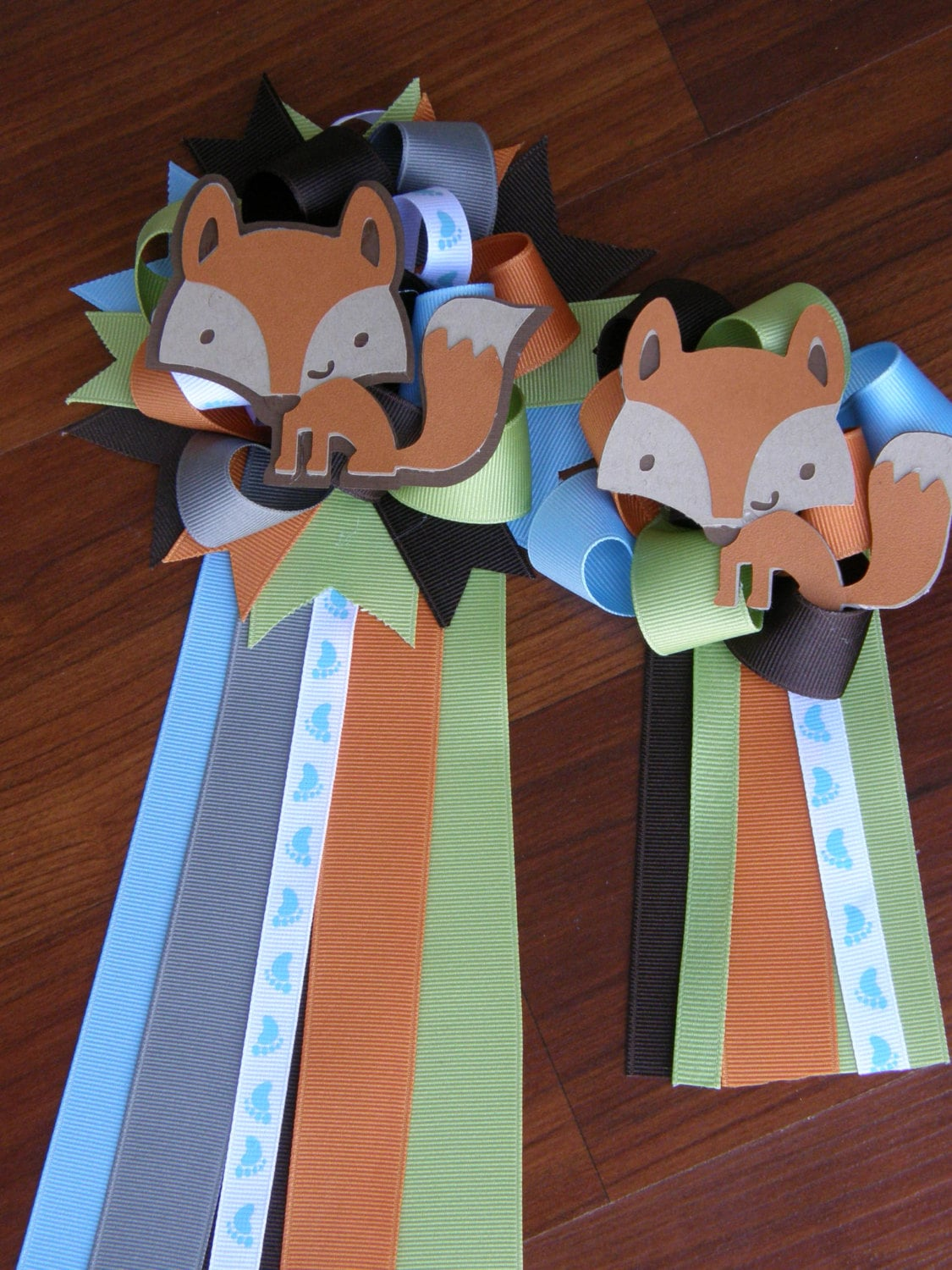 Baby Showers For Mums And Dads ~ Fox baby shower boy corsage mum by