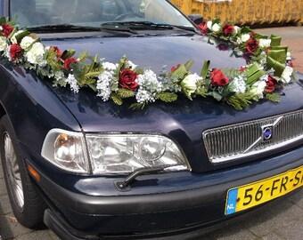 Wedding Car Decoration Garland of Silk Roses