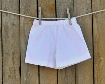 Boys linen shorts, white linen shorts, Boys shorts, many colors...3m,6m,9m,12m,18m,2t,3t,4t,5,6,7,8