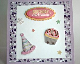 Birthday Card - Celebration, little kids birthday card,