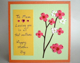Mothers Day Card - Cherry Blossoms