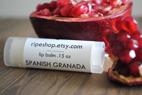 Spanish Granada Lip Balm - Shea Butter, Beeswax, Cocoa Butter