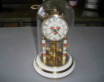 Vintage Haller 400 Day Anniversary Clock Made in Germany - Needs Work