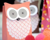 Owl party favor box printable by Lafabrique-à-bricole on Etsy