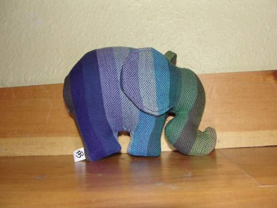Girasol Amitola Purple Weft Elephant Lovey with Toy Clip
