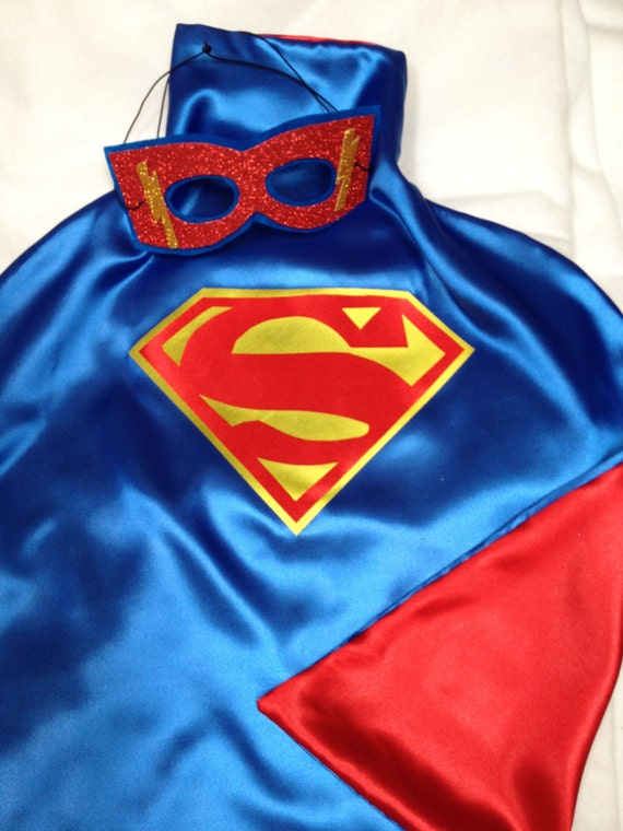 1 Superhero Cape plus Mask  Inspired Superman Cape Great for Birthday and Party Gifts