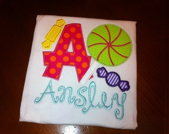 Candy Shoppe Appliqué Birthday Shirt