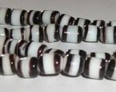 Striped Glass Beads (6mm)