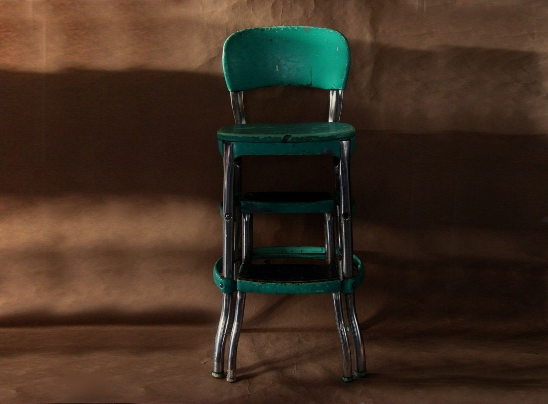 image of cosco kitchen step stool chair