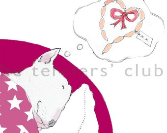 The Adorable Bull Terrier  Set of Three Cards