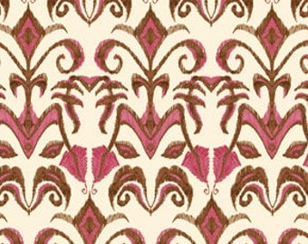 72073 Free Spirit Tina Givens Lilliput Fields Ironic in pink and  chocolate color - 1 yard