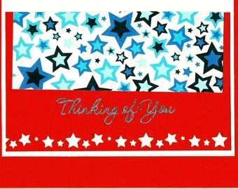 Patriotic Thinking of You greeting card
